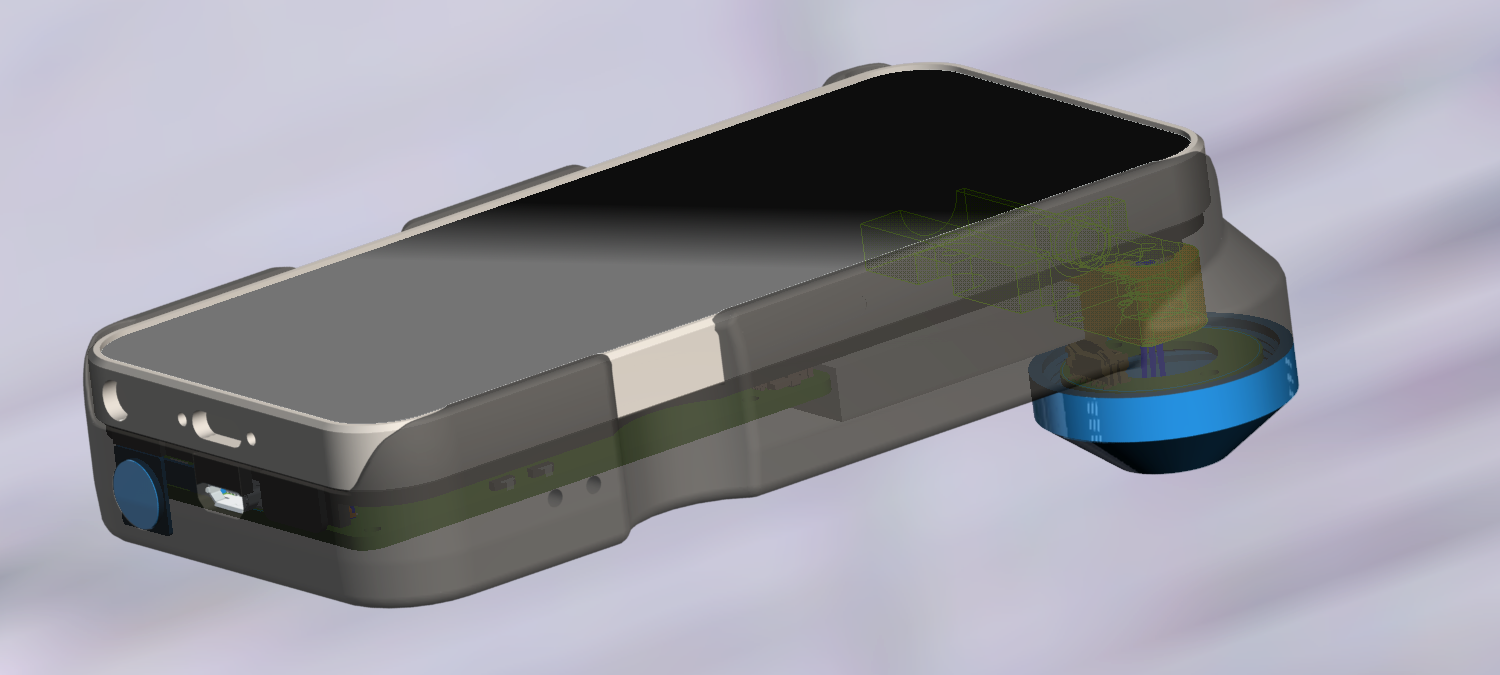 iPhone based optical Photometer device (Cad view)
